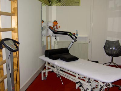 Behandelkamer van de praktijk voor fysiotherapie van der A